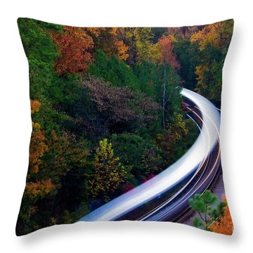 Autumn Rails Throw Pillow