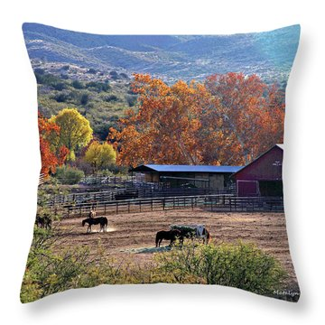 Autumn Ranch Throw Pillow