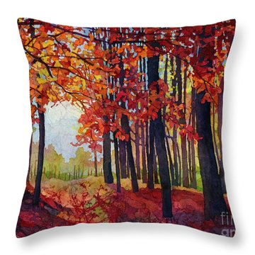 Autumn Rapture Throw Pillow by Hailey E Herrera
