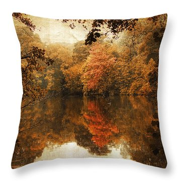 Autumn Reflected Throw Pillow by Jessica Jenney