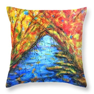 Autumn Reflections 2 Throw Pillow