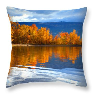 Autumn Reflections At Sunoka Throw Pillow