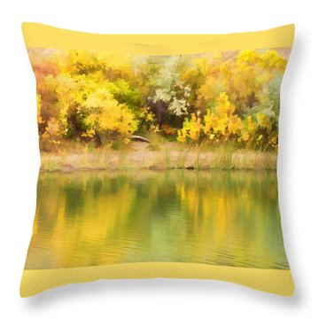 Autumn Reflections Throw Pillow by Diane Alexander