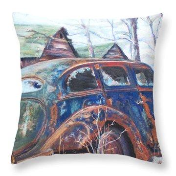 Autumn Retreat - Old Friend Vi Throw Pillow by Alicia Drakiotes