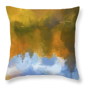 Throw Pillow featuring the photograph Autumn Reverie by Bitter Buffalo Photography