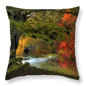 Throw Pillow featuring the photograph Autumn Reverie by Jessica Jenney