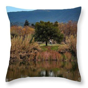 Autumn Rider Throw Pillow