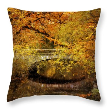Autumn River Views Throw Pillow by Jessica Jenney