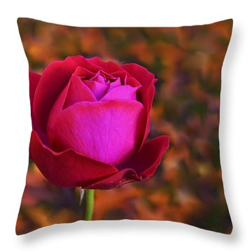 Autumn Rose Throw Pillow