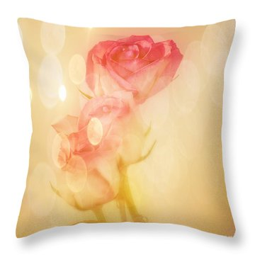 Autumn Roses Throw Pillow