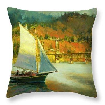 Autumn Sail Throw Pillow