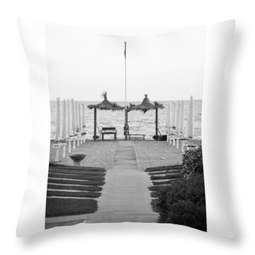 #autumn #seaside #blackandwhiteitalia Throw Pillow