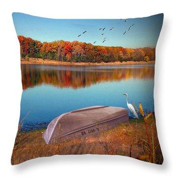 Autumn Serenade Throw Pillow