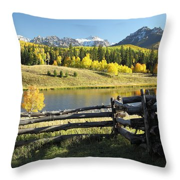 Autumn Serenade Throw Pillow by Eric Glaser