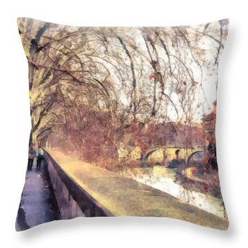 Autumn Throw Pillow by Sergey Simanovsky