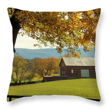 Autumn Shenandoah Barn Throw Pillow