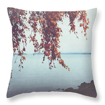 Throw Pillow featuring the photograph Autumn Shore by Ari Salmela