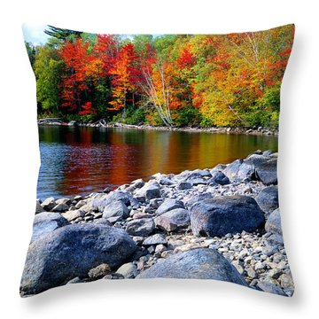 Autumn Shoreline Throw Pillow