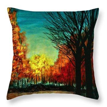 Autumn Silhouette  Throw Pillow