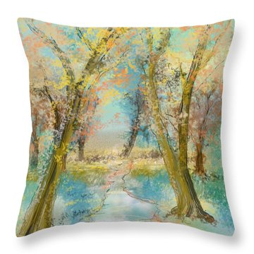 Autumn Sketch Throw Pillow