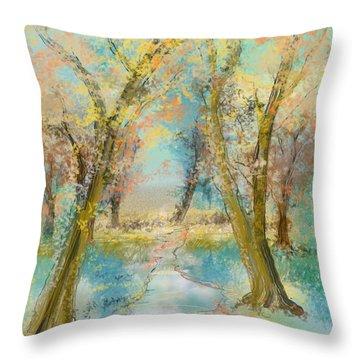 Autumn Sketch Throw Pillow