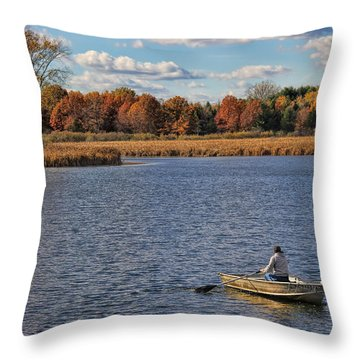Autumn Solitude Throw Pillow by Pat Cook