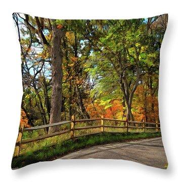 Autumn Song Throw Pillow by Cedric Hampton