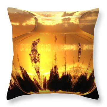 Throw Pillow featuring the photograph Autumn Spirits by Joyce Dickens