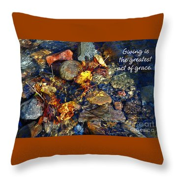 Throw Pillow featuring the drawing Autumn Splash Grace by Diane E Berry