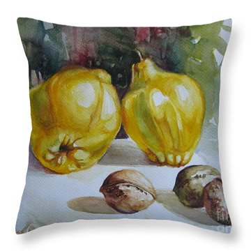 Throw Pillow featuring the painting Autumn Still Life 2 by Elena Oleniuc