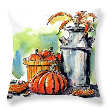Throw Pillow featuring the painting Autumn Still Life 2 by Terry Banderas