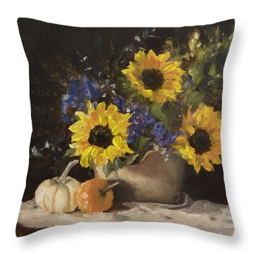 Throw Pillow featuring the painting Autumn Still by Lori Ippolito