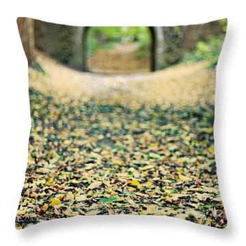 Autumn Stroll Throw Pillow by Meirion Matthias