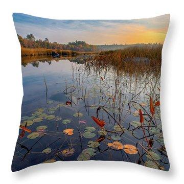 Autumn Sunrise At Compass Pond Throw Pillow