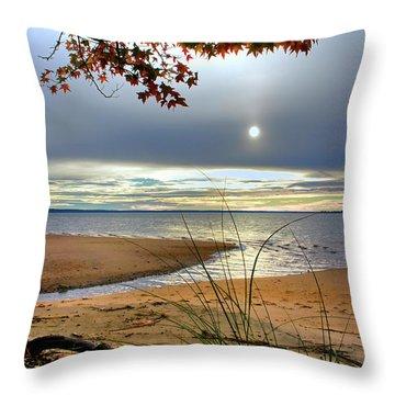 Autumn Sunrise On The James Throw Pillow