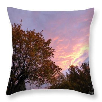 Autumn Sunset 2 Throw Pillow