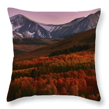 Autumn Sunset At Conway Summit In The Eastern Sierras Throw Pillow