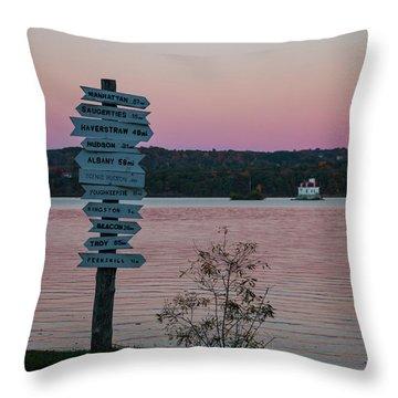 Autumn Sunset At Esopus Meadows Throw Pillow