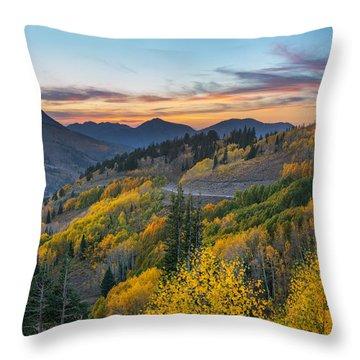 Autumn Sunset At Guardsman Pass, Utah Throw Pillow