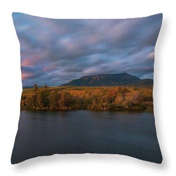 Autumn Sunset At Mount Katahdin Throw Pillow