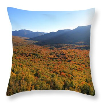 Autumn Sunset Over The Pemi Throw Pillow