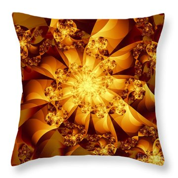 Autumn Sunshine Throw Pillow by Michelle H