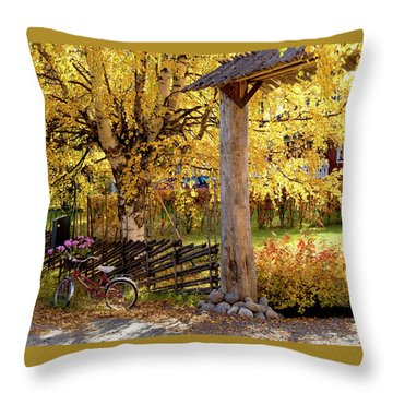 Rural Rustic Autumn Throw Pillow