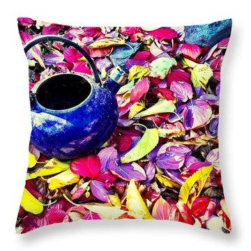 Autumn Tea Throw Pillow