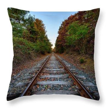 Autumn Train Throw Pillow