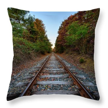 Autumn Train Throw Pillow