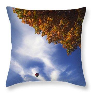 Autumn Traveler - Lake Geneva Wisconsin Throw Pillow