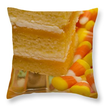 Autumn Treats Throw Pillow by MaryJane Armstrong