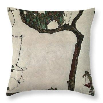 Autumn Tree Throw Pillow by Egon Schiele