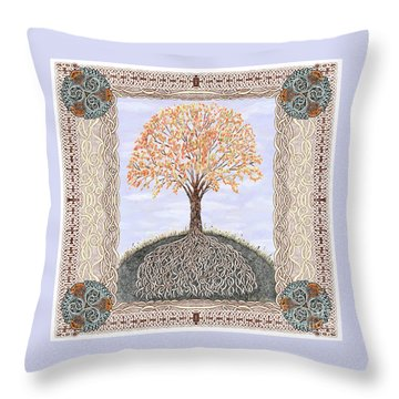 Autumn Tree Of Life Throw Pillow by Lise Winne